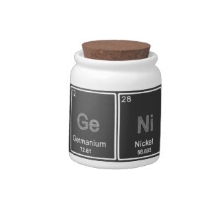 Periodic Table GeNiUS candy jar