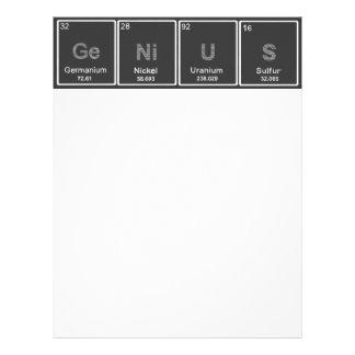 Periodic table GeNiUS letterhead