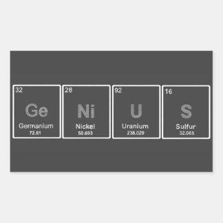Periodic Table GeNiUS sticker
