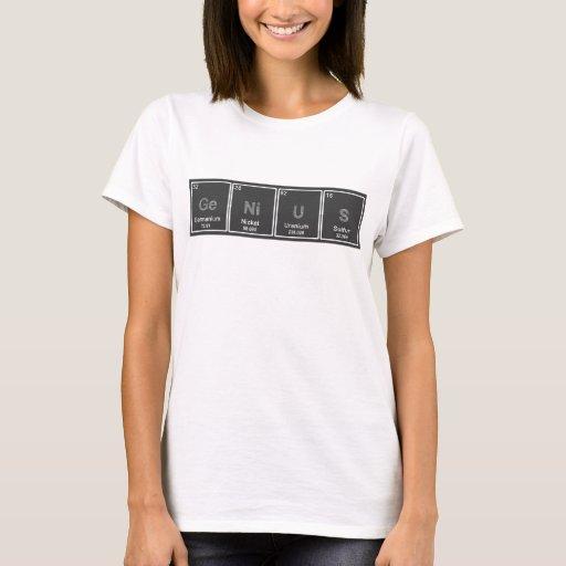 Periodic table genius tshirt zazzle for Custom periodic table t shirts