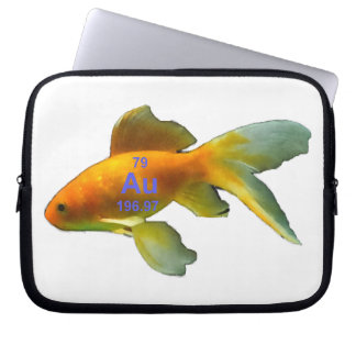 Periodic Table Goldfish Laptop Computer Sleeves