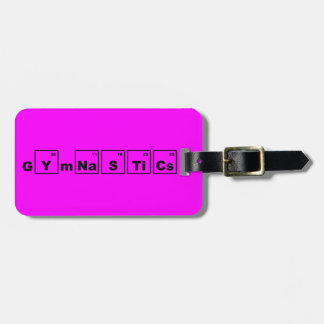 Periodic Table Gymnastics Bag Tag