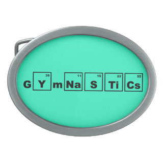 Periodic Table Gymnastics Belt Buckle
