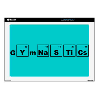 "Periodic Table Gymnastics Decal For 17"" Laptop"