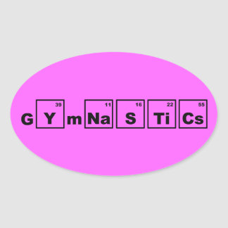 Periodic Table Gymnastics Oval Sticker