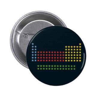 Periodic table in stars 2 inch round button