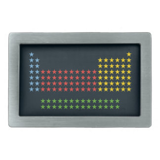Periodic table in stars rectangular belt buckles