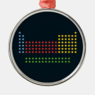 Periodic table in stars christmas ornaments
