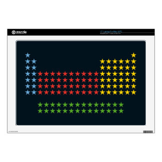 """Periodic table in stars decal for 17"""" laptop"""
