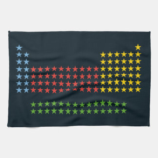 Periodic table in stars hand towel