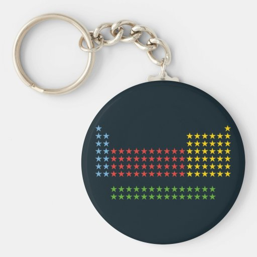 Periodic table in stars key chains