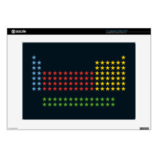 Periodic table in stars laptop decals