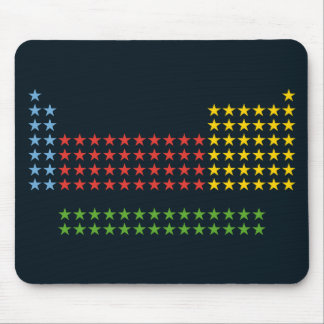 Periodic table in stars mouse pad