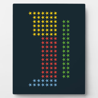 Periodic table in stars display plaque