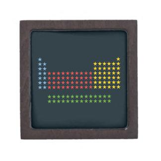 Periodic table in stars premium trinket boxes