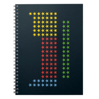 Periodic table in stars spiral note books