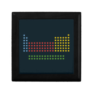 Periodic table in stars trinket boxes