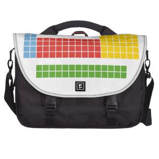 Periodic table laptop messenger bag