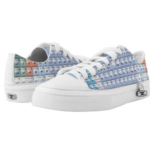 Periodic table canvas shoes printed shoes zazzle periodic table low top shoes urtaz Gallery