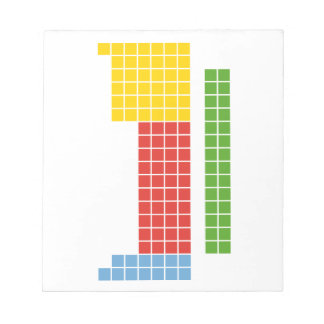 Periodic table memo note pads