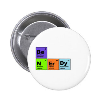 Periodic Table Nerdy Products 2 Inch Round Button
