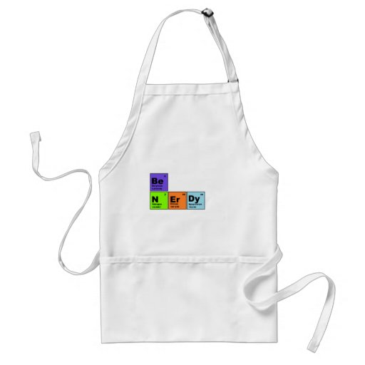 Periodic Table Nerdy Products Adult Apron