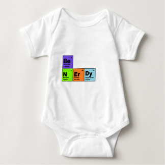 Periodic Table Nerdy Products Baby Bodysuit