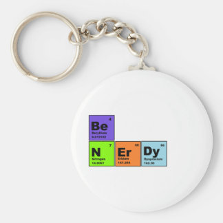 Periodic Table Nerdy Products Basic Round Button Keychain