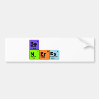 Periodic Table Nerdy Products Bumper Sticker