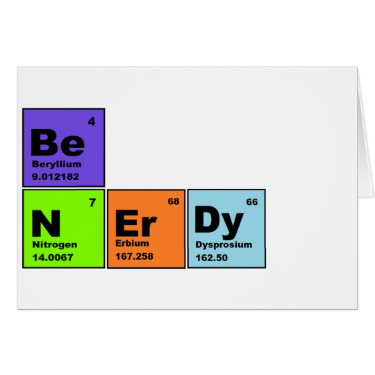 Periodic Table Nerdy Products Card