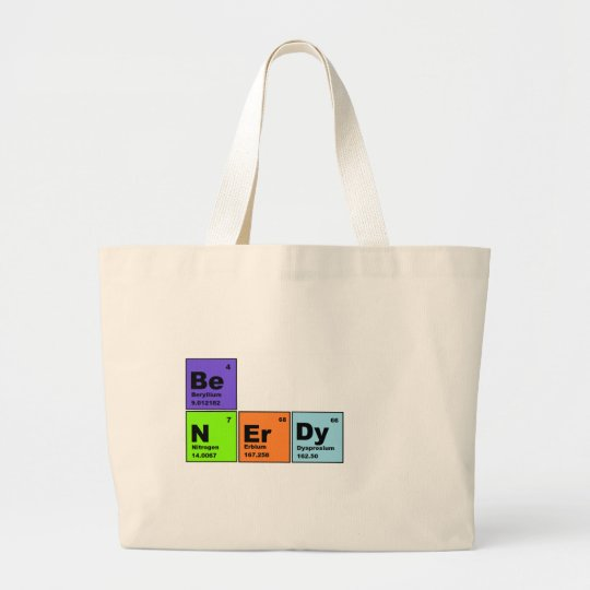 Periodic Table Nerdy Products Large Tote Bag
