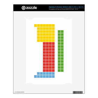 Periodic table NOOK decal