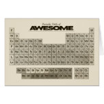 Periodic Table of AWESOME Greeting Card