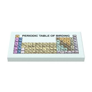 Periodic Table of Birding Canvas Print
