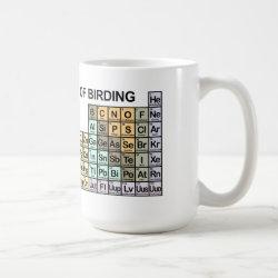 Classic White Mug with Periodic Table of Birding design