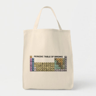 Periodic Table of Birding Grocery Tote Bag