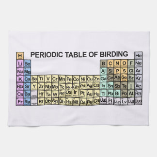 Periodic Table of Birding Hand Towel