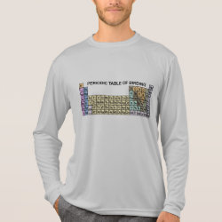 Men's Sport-Tek Competitor L/S T-shirt with Periodic Table of Birding design