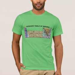 Men's Basic American Apparel T-Shirt with Periodic Table of Birding design