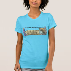 Women's American Apparel Fine Jersey Short Sleeve T-Shirt with Periodic Table of Birding design