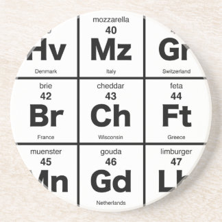 Periodic Table of Cheeses Coaster