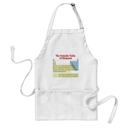 Periodic Table of Elements Adult Apron