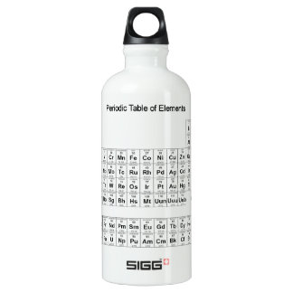 Periodic Table of Elements Aluminum Water Bottle