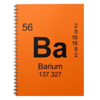 Periodic Table of Elements (Barium) Notebook