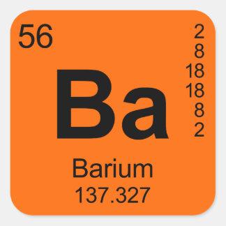 Periodic Table of Elements (Barium) Square Sticker