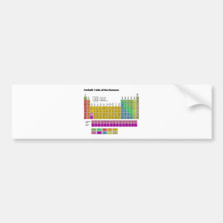 Periodic Table of Elements Bumper Sticker