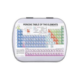 Periodic table of elements candy tin