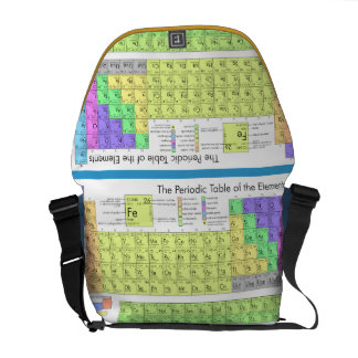 Periodic table of elements courier bags