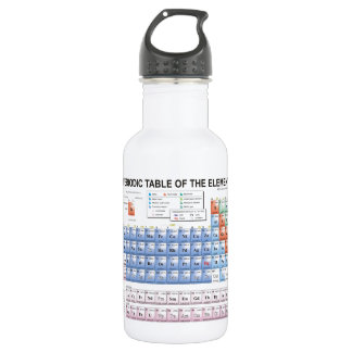 Periodic Table of Elements Fully Updated Stainless Steel Water Bottle