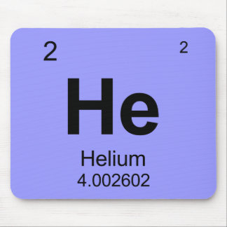 Periodic Table of Elements (Helium) Mousepad